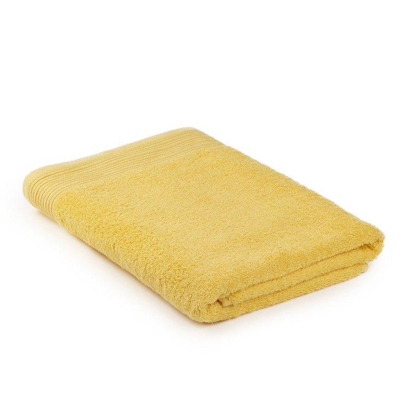 Jednobojni peškir Svilanit Prima je izrađen od visokokvalitetnog i mekog pamuka. Gusto tkani pamuk za negu kože. Svetlo žuta boja.