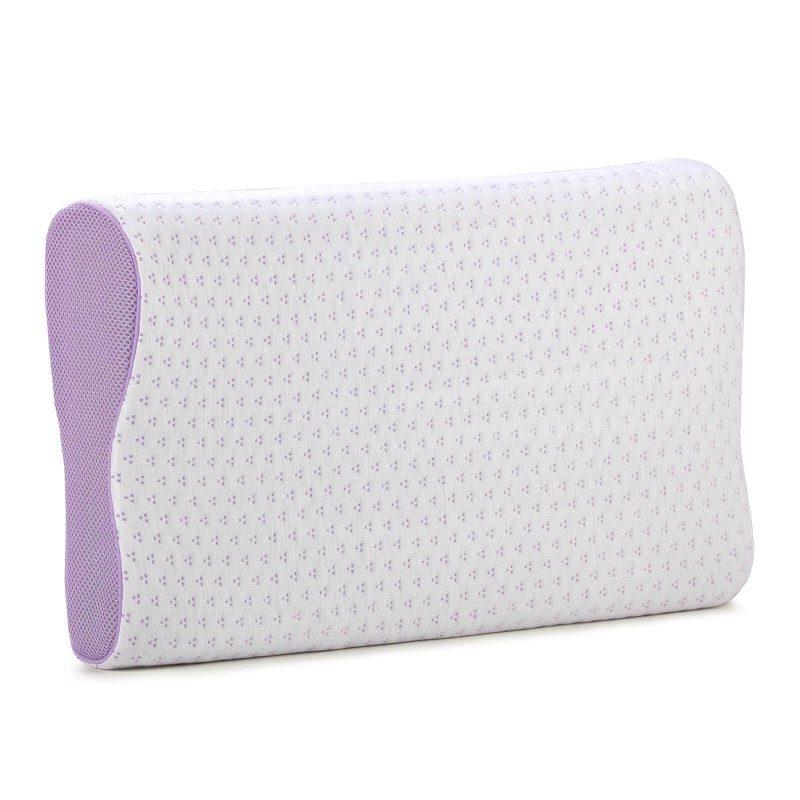 Anatomski jastuk od pene Lavanda Memory, posebno je pogodan za sve koji vole da spavaju na boku ili leđima. Memorijska pena kombinuje prednosti i karakteristike klasičnih jastuka i jastuka od lateksa. Savršeno se prilagođava obliku i pritisku tela, savršeno podupire vrat i kičmu i opušta telo tokom spavanja. Navlaka se skida i pere na 40 °C.
