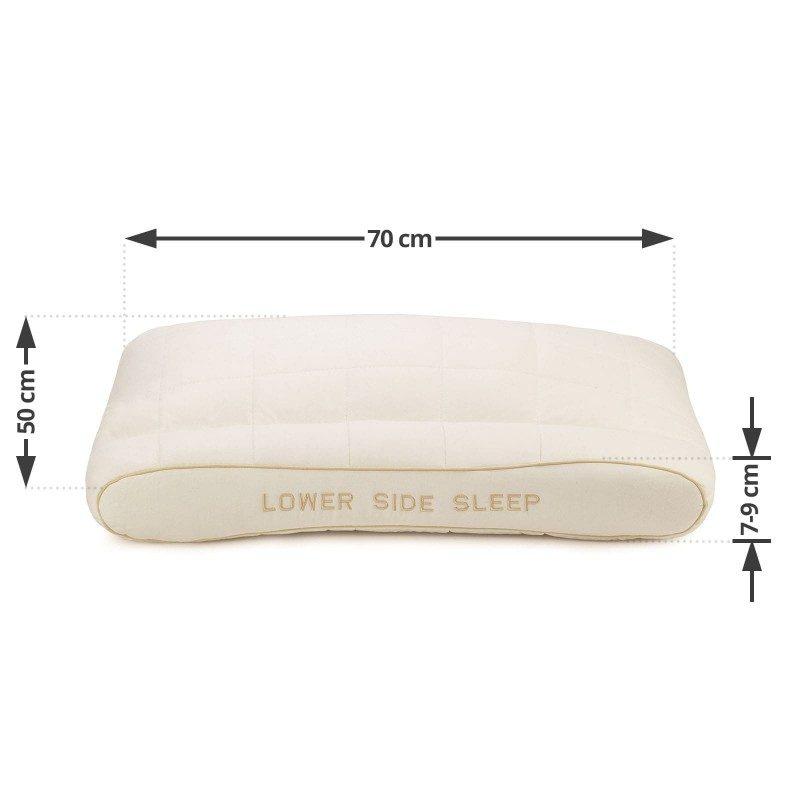 Jedinstvena kombinacija klasičnog i nižeg anatomskog jastuka od bambusa, oduševiće vas udobnošću jer mu možete prilagoditi visinu i tvrdoću. Jastuk je idealan izbor za sve koji imaju uža ramena i najčešće spavaju na leđima ili stomaku. Jastuk je potpuno periv na 60 °C.