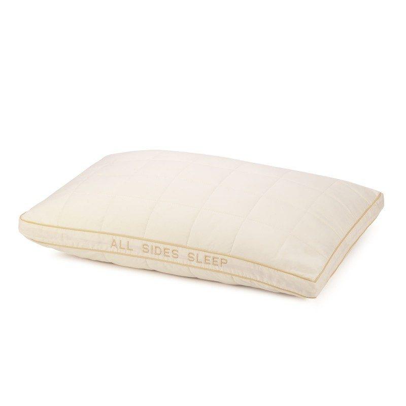 Klasični jastuka sa bambusom All Sides Sleep će vas uveriti u svestranost, jer je pogodan za sve položaje spavanja. Vaša koža će biti u kontaktu sa 100% nebeljenim pamukom i bambusovim vlaknima, što garantuje svežinu i higijensko okruženje za spavanje.