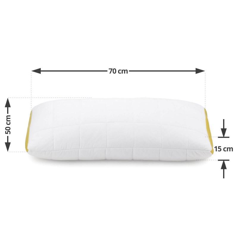 Klasični jastuk Kamilica Airflow, definitivno će vas uveriti u svestranost, jer je pogodan za sve položaje spavanja. Nežan miris kamilice, koji umiruje, pomaže u smanjenju nervne iscrpljenosti i nesanice, a pruža i dodatnu udobnost tokom spavanja. Jastuk je potpuno periv na 60 °C.