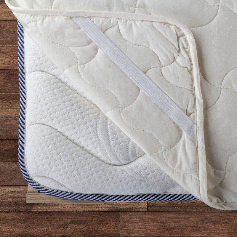 Zaštita za dušek Andorra pruža efikasnu zaštitu od mrlja i prljavštine. Vaš postojeći dušek će ponovo postati čist, a novi će dobiti dodatnu udobnost i duži vek trajanja. Zdravo i suvo okruženje za spavanje, omogućava 100% nebeljeni pamuk i punjenje od bambusovih vlakana, koja efikasno apsorbiraju i uklanjaju vlagu. Zaštita ima izdržljive elastične trake na ivicama, što nameštanje čini brzim i jednostavnim. Zaštita se u potpunosti može oprati na 60 °C.