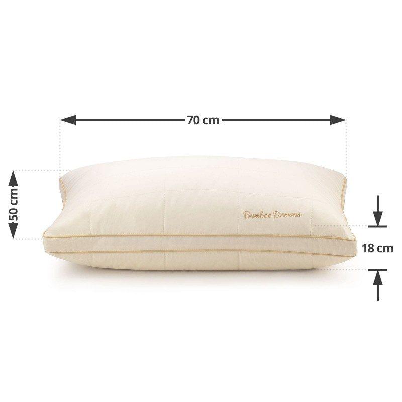 Klasični jastuk Andorra SuperSoft, u svojoj višoj verziji, pogodan je za sve one koji se puno okreću dok spavaju, imaju šira ramena i najčešće spavaju na boku. Vaša koža će biti u kontaktu sa 100% nebeljenim pamukom i bambusovim vlaknima, što garantuje svežinu i higijensko okruženje za spavanje. Jastuk je potpuno periv na 60 °C.