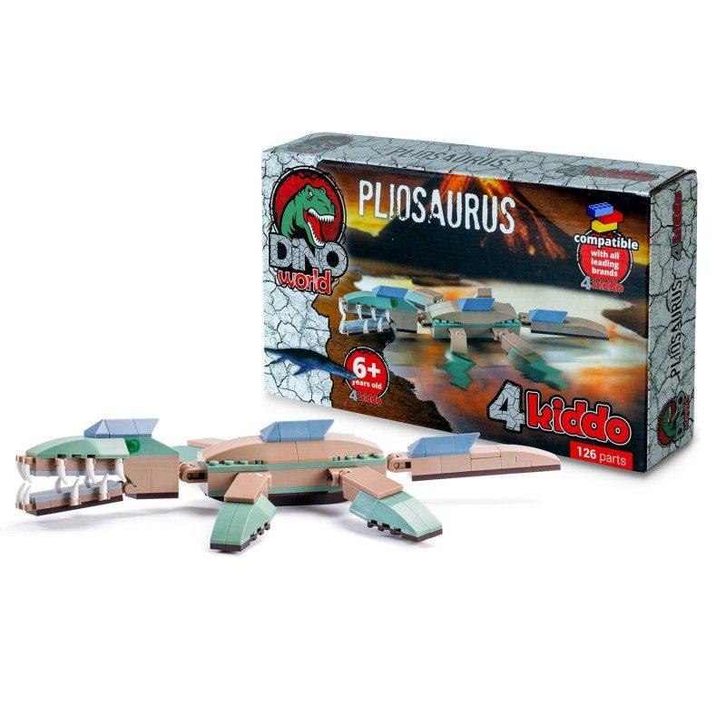 Napravite svog dinosaurusa sa Kiddo kockama! Za kreativnost i korisno slobodno vreme. Dinosaurus Pliosaurus.