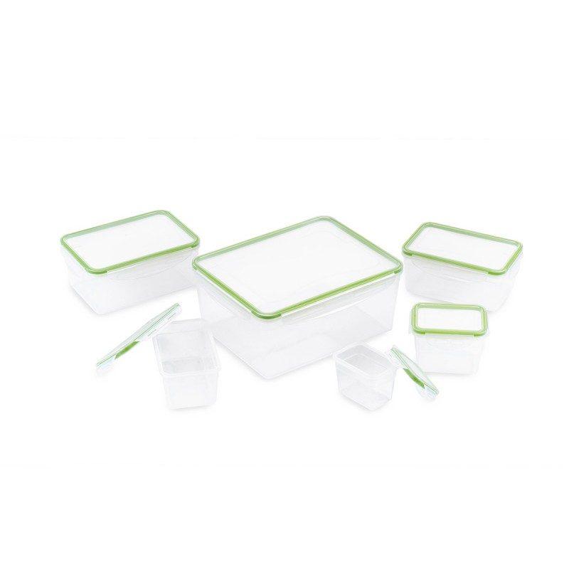 U plastičnim posudicama Rosmarino ćete na jednostavan način očuvati različite namirnice. Set se sastoji od 6 četvrtastih posuda različitih veličina i 6 pripadajućih poklopaca.