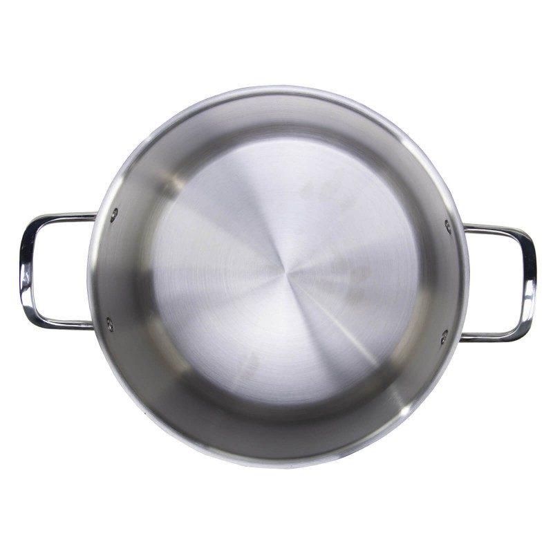 Čelični lonac Pour&Cook prečnika 28 cm i zapremine 13 l, odlikuje neuništiv, nerđajući čelik 18/10 i 3-slojno dno, koje omogućava brzo, ravnomerno zagrevanje i kraće vreme kuvanja. Tehnologija ThermoFlow omogućava odličnu distribuciju toplote po celoj površini posude i na taj način obezbeđuje ravnomerno kuvanje. Za jednostavnije kuvanje, u unutrašnjosti posude se nalazi merna skala, a na obe strane poklopca postoje otvori za isparavanje vode i zaobljene ivice, što omogućava prosipanje viška tečnosti bez podizanja poklopca. Pogodan za sve površine za kuvanje, uključujući indukcionu. Lako se čisti i može se oprati i u mašini za pranje sudova.