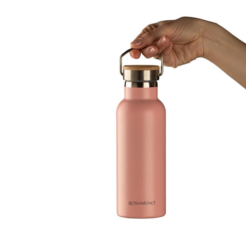 Vakuumska termos boca, od nerđajućeg čelika, nema nikakav miris ili ukus prilikom korišćenja. Ima dvostruko izolovan zid, tako da piće ostaje hladno 24 h i toplo 12 h. Moderno dizajniran termos, ima specijalni premaz za bolje prianjanje ruci. Većoj elegancija doprinosi poklopac od bambusa.