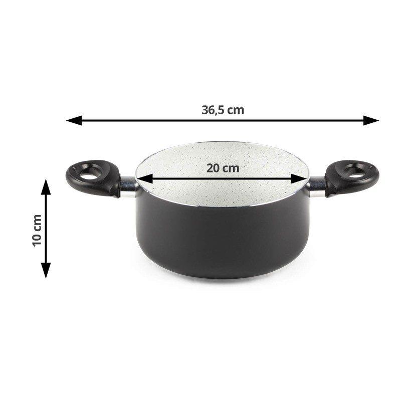 Šerpa Eco Cook prečnika 20 cm, sa nelepljivim glatkim mineralnim premazom, pruža prirodan način kuvanja, sa vrlo malo masnoće. Hrana na taj način zadržava  sve vitamine i minerale, koji su našem telu potrebni za zdrav način života. Pogodna za sve površine za kuvanje, uključujući indukcionu. Lako se čisti i može se oprati i u mašini za pranje sudova. Sve posude iz linije Eco Cook temelje se na višeslojnom sastavu, čime je zagarantovan dug vek trajanja i visok stepen otpornosti i izdržljivosti.