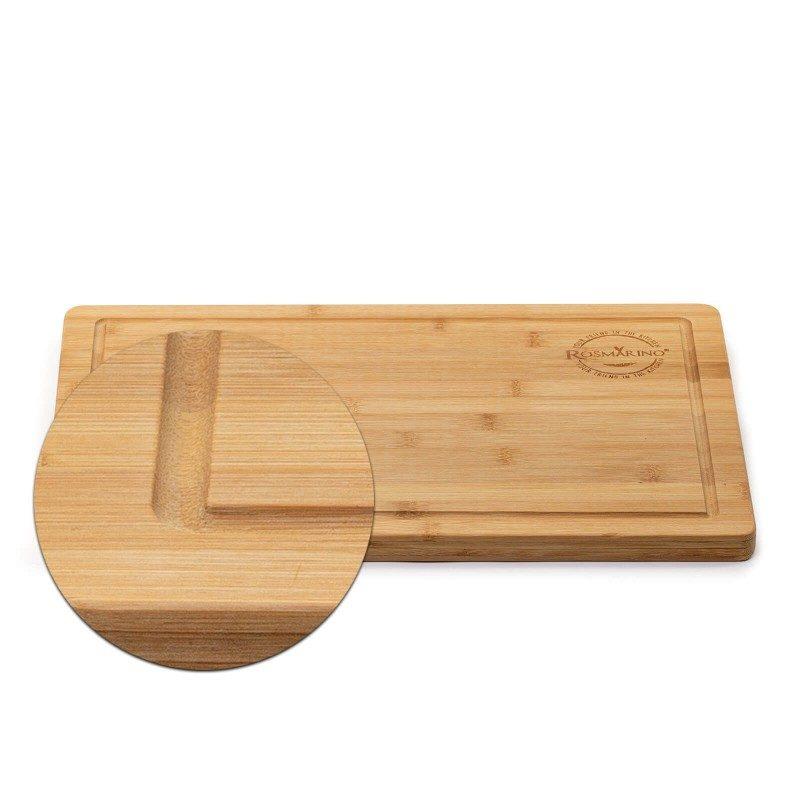 Nova Rosmarino daska je neophodna za upotrebu u kuhinji ili na pikniku u prirodi. Napravljena je od prirodnog bambusovog drveta, koje je zbog svoje trajnosti i antibakterijskih svojstava, sve popularnije u domaćinstvu. Drvo od bambusa smatra se vrlo stabilnim, čvrstim materijalom, sa dugim vekom trajanja. Iako lagane, daske od bambusa su izdržljive, pogodne za seckanje raznih namirnica. Zarezi za lakše nošenje i odvodni kanal za višak tečnosti, nalaze se na ivici ploče.