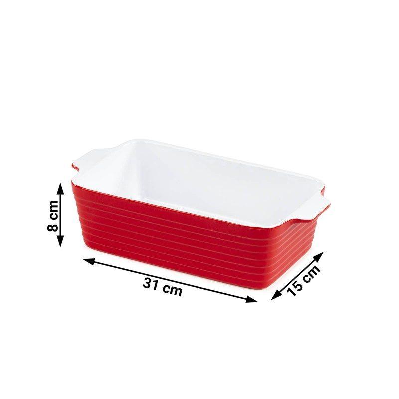Keramički pekač Rosmarino, izrađen od visokokvalitetne keramike, pečene na 1200 °C, izuzetno je izdržljiv, fine strukture i otporan na razne hemijske uticaje. Sa modernim izgledom u crvenoj boji, biće vaš novi nezamenjivi dodatak za pečenje. Pekač je zbog svog izdržljivog keramičkog sastava, otporan i na visoke temperature do 260 °C, a primeren je i za mikrotalasnu pećnicu. Takođe je primeren za čuvanje u frižideru ili zamrzivaču. Idealno za pečenje mesa, ribe, povrća, lazanja i peciva.