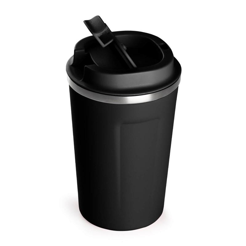 """Termos za kafu ili čaj Rosmarino od kvalitetnog nerđajućeg čelika sa dvostrukim izolacionim zidom koji održava napitak hladnim do 8 sati i toplim do 4 sata. Termos za višestruku upotrebu je najbolja alternativa termosu za jednokratnu upotrebu, ne sadrži petrohemikalije i BPA, ne stvara veštački ukus piću. Termos zapremine 350 ml savršene je veličine za vaš najdraži napitak """"to go"""": kafu, čaj i slično. Zahvaljujući poklopcu termos 100% zadržava tečnost. Pogodan za pretežno sve automobilske držače za čaše."""