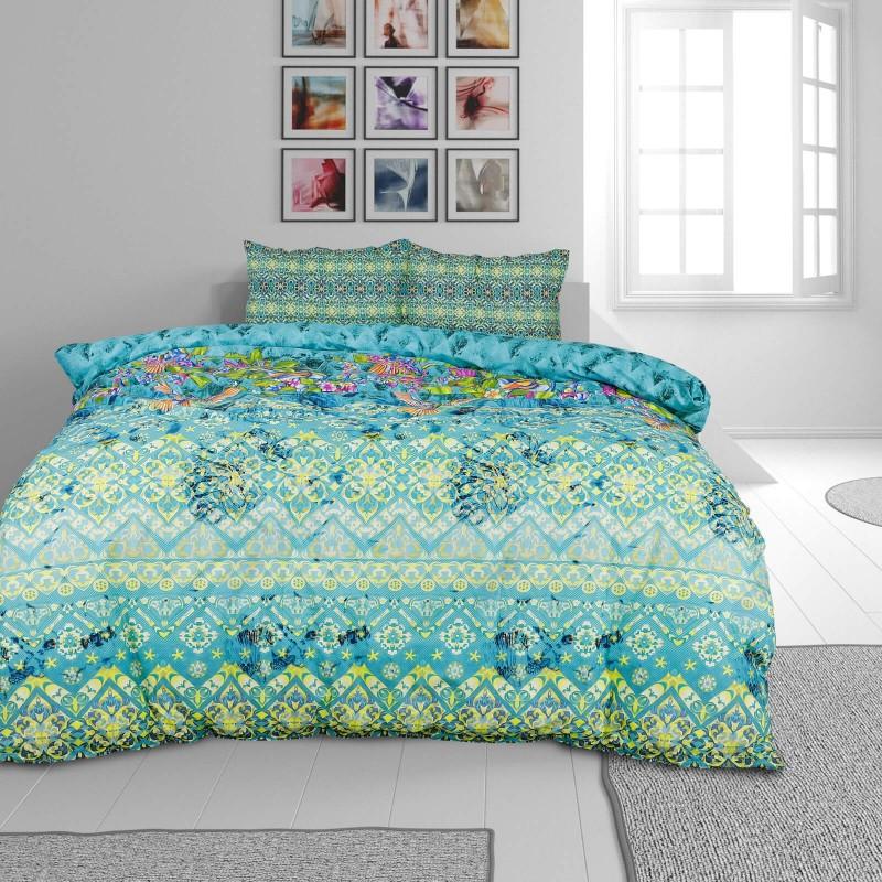 Vreme je za potpuno uživanje u modernim pamučnim posteljinama! Posteljina Paradise Garden je satkana od visokokvalitetnog, tankog i mekanog pamučnog satena. Posteljina od satena je čudesan ukras vaše spavaće sobe, a u isto vreme odličan izbor za udoban i ugodan san. Neka vas očara dizajn sa crtama. Jastuci imaju poseban rub, koji poboljšava veličanstven izgled. Posteljina se može oprati na 40 °C.