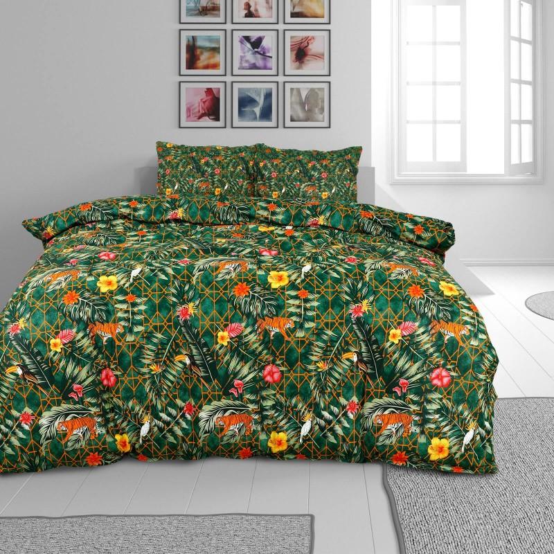 Vreme je za potpuno uživanje u modernim pamučnim posteljinama! Posteljina Flowers je satkana od visokokvalitetnog, tankog i mekanog pamučnog satena. Posteljina od satena je čudesan ukras vaše spavaće sobe, a u isto vreme odličan izbor za udoban i ugodan san. Neka vas očara klasični dizajn prestižnog izgleda. Jastuci imaju poseban rub, koji poboljšava veličanstven izgled. Posteljina se može oprati na 40 °C.