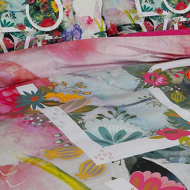 Vreme je za potpuno uživanje u modernim pamučnim posteljinama! Posteljina Love napravljena je od renforce platna, koje se smatra mekanom tkaninom i lakom za održavanje. Očaraće vas modernim dizajnom sa motivima cvetova. Posteljina je periva na 40 °C.