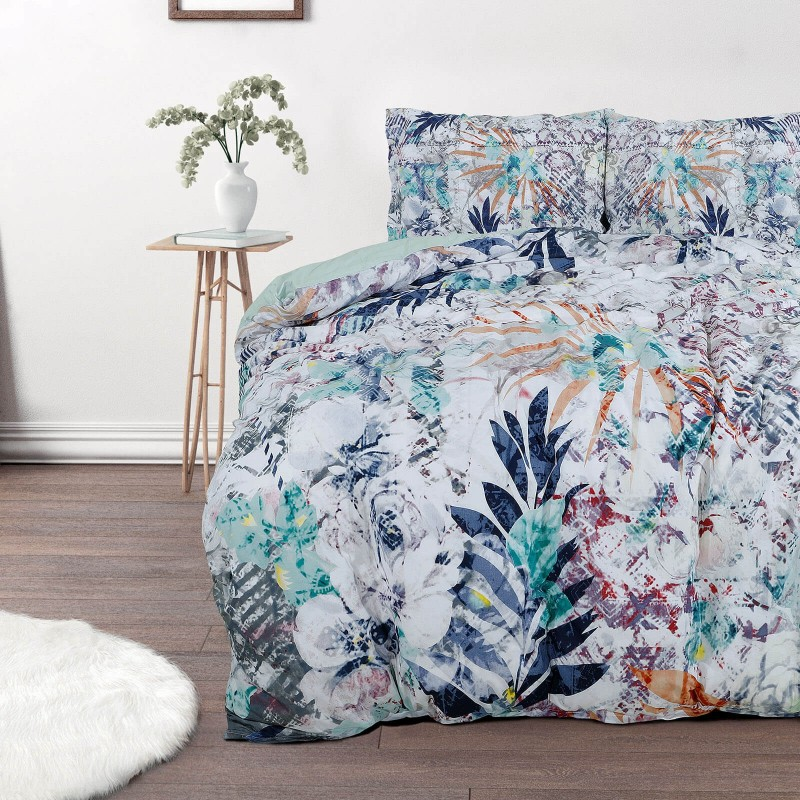Vreme je za potpuno uživanje u modernim pamučnim posteljinama! Posteljina Leaves od renforce platna, mekane tkanine, jednostavna za održavanje. Neka vas oduševi moderan dizajn sa uzorkom listova za udoban i ugodan san. Posteljina je periva na 40 °C.