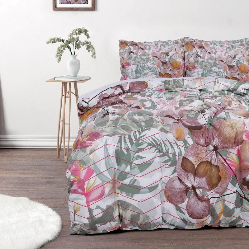 Vreme je za potpuno uživanje u modernim pamučnim posteljinama! Posteljina Svilanit Mendy napravljena je od renforce platna, koje se smatra mekanom tkaninom i lakom za održavanje. Očaraće vas modernim dizajnom sa crtama. Posteljina je periva na 40 °C.