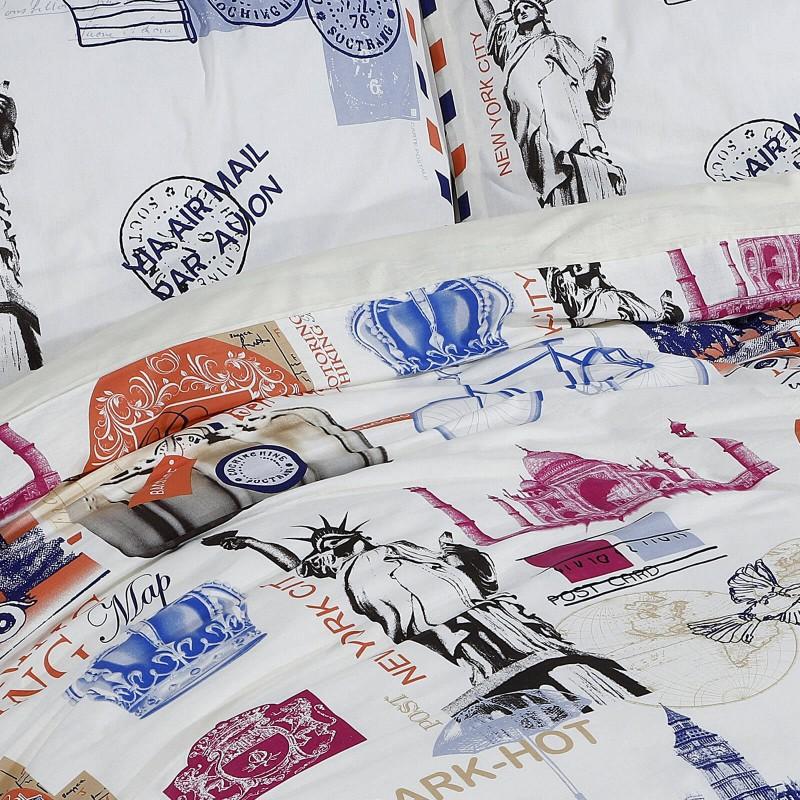 Vreme je za potpuno uživanje u modernim pamučnim posteljinama! Posteljina Svilanit Traveler napravljena je od renforce platna, koje se smatra mekanom tkaninom i lakom za održavanje. Očaraće vas modernim dizajnom sa crtama. Posteljina je periva na 40 °C.