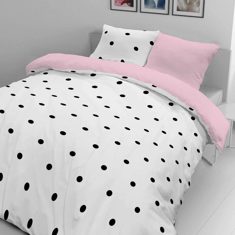 Vreme je za potpuno uživanje u modernim pamučnim posteljinama! Posteljina Black Dots napravljena je od renforce platna, koje se smatra mekanom tkaninom i lakom za održavanje. Očaraće vas modernim dizajnom sa crtama. Posteljina je periva na 40 °C.