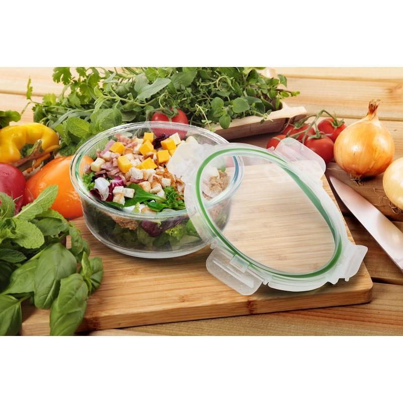 Rosmarino Bake & Go sa poklopcem (2600 ml) modernog izgleda biće vaš novi neizostavni dodatak za pečenje i kuvanje. Zbog svog sastava borosilikatnog stakla, posuda za pečenje je takođe otporna na visoke temperature u rerni ili mikrotalasnoj, pogodna za čuvanje u frižideru i mašini za pranje posuđa. Idealan dodatak za pripremu lazanja, gratinirane testenine, mesa, ribe, pita za pečenje, povrća ili drugih raznovrsnih jela.