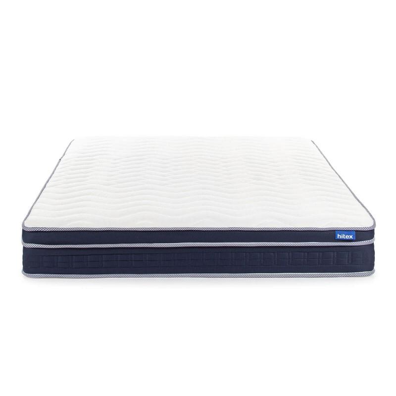 7-zonski dušek Hitex Zero Gravity 24 Memory Soft visine 24 cm, pruža vašem telu potpunu podršku i udobnost, tako da ćete ujutru biti odmorni i naspavani. Nezavisne džepičaste opruge u kombinaciji sa dodatnim slojem filca u jezgru i slojem memorijske pene, osiguravaju pravilan položaj tela i opuštajući san.