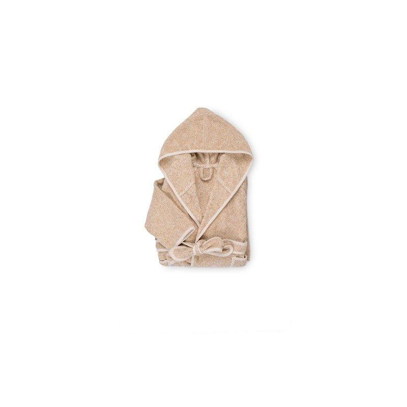 Dečiji bade mantil izrađen je od visokokvalitetnog velura, živahnog je izgleda sa izvezenim medvedićem u roze boji. Veličina: za decu 1 do 4 godine.
