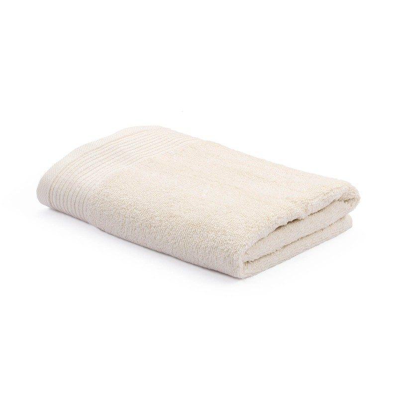 Jednobojni peškir Svilanit Prima je izrađen od visokokvalitetnog i mekog pamuka. Gusto tkani pamuk za negu kože. Bež boja.