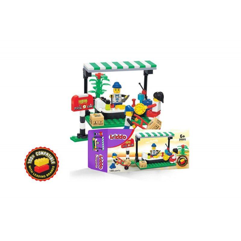 Nove kocke u gradu! Kompatibilne sa svim drugim kockicama vodećih brendova. Kako bi razvili detetovu kreativnost, sada na raspolaganju imate šarene kocke Kiddo Picerija za različite i zahtevne izazove.