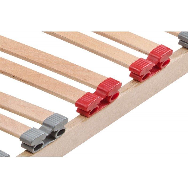 Izuzetno izdržljive 5-zonske letvice Idila, osiguravaju pravilnu podršku dušeku i produžavaju mu vek trajanja. Struktura sa 5 zona ravnomerno raspoređuje teret i pruža vam pravilan položaj tokom spavanja. Snažno i fleksibilno bukovo drvo, pruža dodatnu fleksibilnost dušeku, održava pravilan položaj vaše kičme i pruža vam opuštajući i kvalitetan san. Snažne letvice od bukve, garancija su čvrstoće i stabilnosti kreveta, jer podnose velika opterećenja svojom gustinom i čvrstinom. Letvice su dizajnirane tako da omogućavaju optimalnu prozračnost kroz čitav dušek, koji ostaje suv i svež tokom cele noći. Fleksibilna podloga se preporučuje za dušeke od pene i lateksa, koji zahtevaju dodatnu fleksibilnost i adekvatnu ventilaciju.