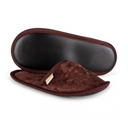 Papuče sa natpisom Vitapur SoftTouch - braon