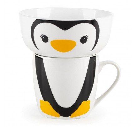 Dečiji set od porcelana Rosmarino - pingvin