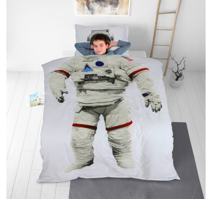 Dečija pamučna posteljina Svilanit Astronaut