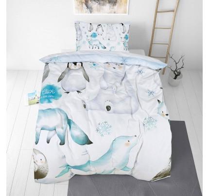 Dečija pamučna posteljina Svilanit Penguin