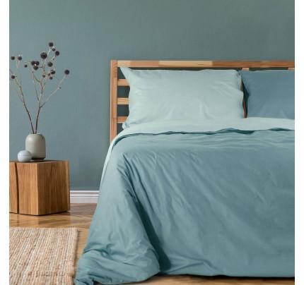Dvostrana pamučna posteljina Svilanit Pine Green