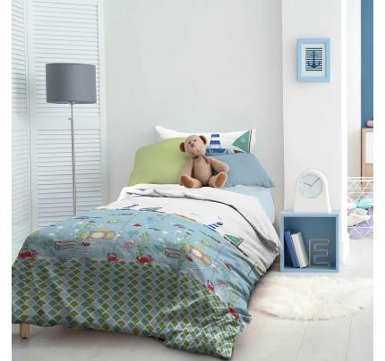 Dečija pamučna posteljina Svilanit Captain Blue