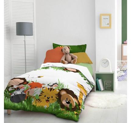 Dečija pamučna posteljina Svilanit Jungle Kids