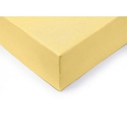 Pamučni elastični čaršav Lyon - žuti