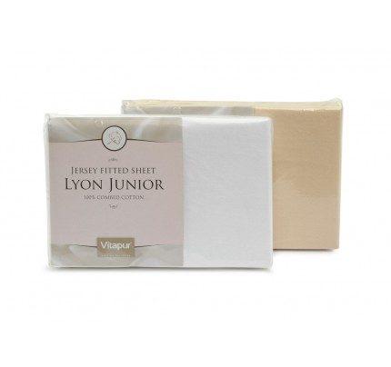 Pamučni elastični čaršav Lyon Junior - beli