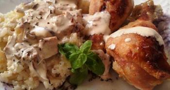 Piletina u sosu sa vrganjima