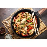 Recept za pileće trakice sa povrćem i pirinčanom testeninom