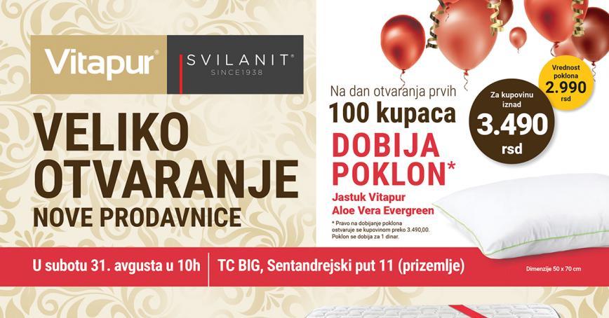 Nova Vitapur/Svilanit prodavnica u Novom Sadu - TC BIG