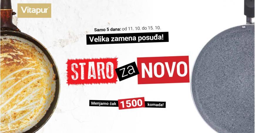 Velika zamena posuđa STARO za NOVO – menjamo čak 1500 komada i recikliramo!