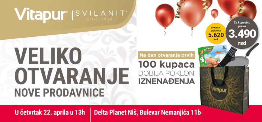 Nova Vitapur/Svilanit prodavnica u Delta Planet Niš