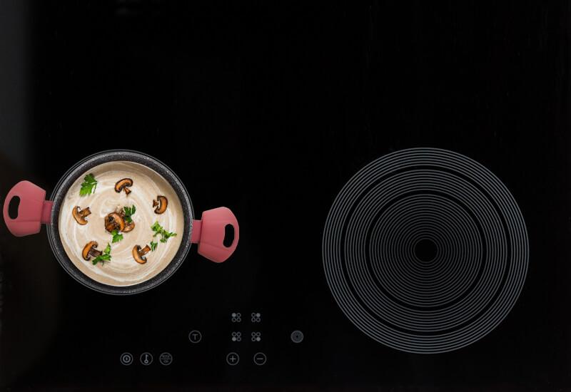 Pogodno za sve površine za kuvanje, uključujući indukciju.