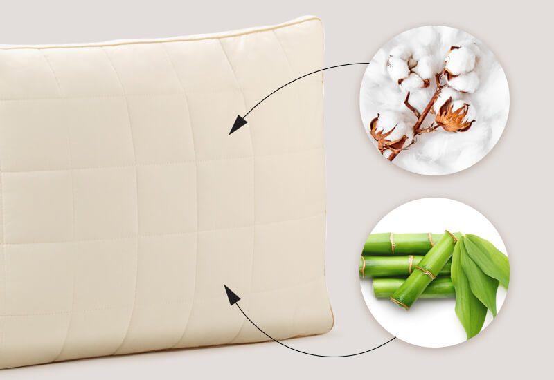 Navlaka od 100% nebeljenog pamuka sa bambusovim vlaknima za dodatnu svežinu i higijensko okruženje za spavanje