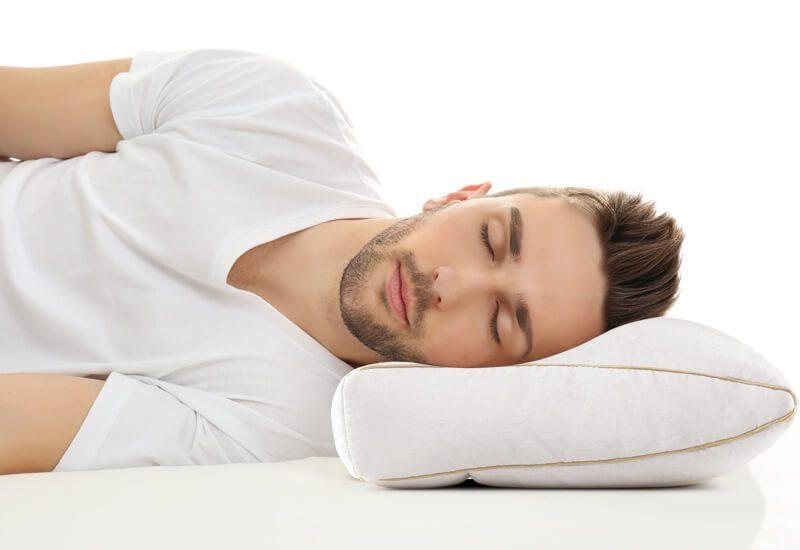 Dvodelno anatomski oblikovan jastuka za sve koji spavaju na boku
